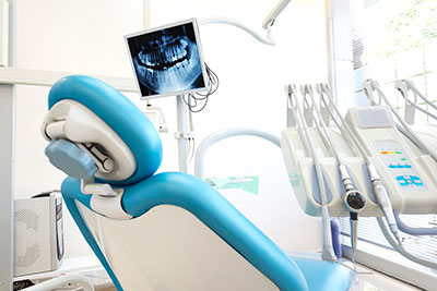 Electronic handpieces besides the dental chair at Pacific Modern Dentistry